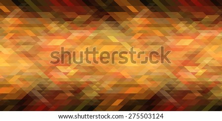 Gold horizontal abstract triangle geometric background. Vector illustration - stock vector