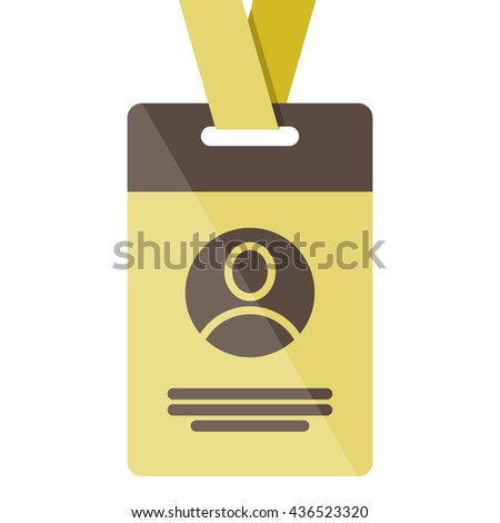 gold Identification card icon - stock vector