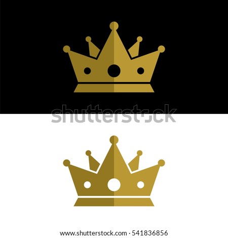gold king crown logo template stock vector royalty free 541836856