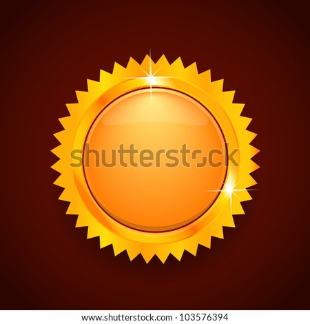 Gold label. Vector illustration - stock vector