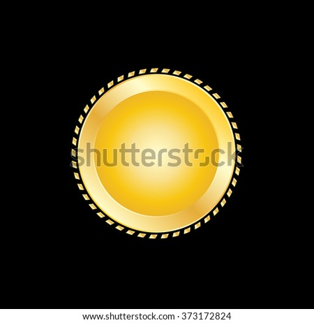 Gold label . Vector Seal . - stock vector