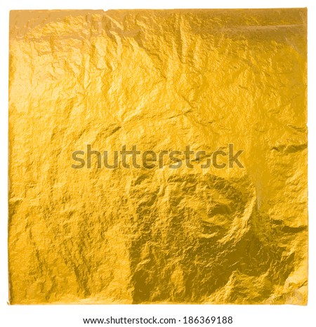 gold leaf isolated on a white background, vector - stock vector