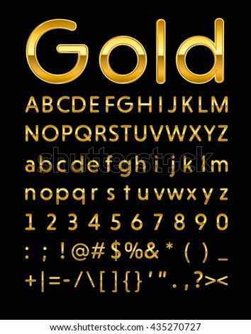 gold letters