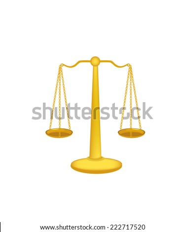 Gold libra, libra isolated, libra vector - stock vector