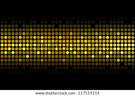 gold lights - vector background - stock vector