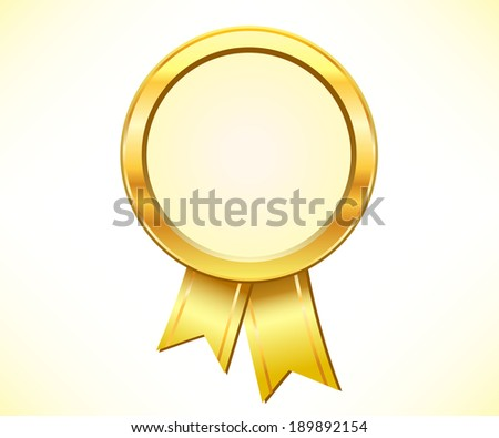 Gold medal award - stock vector