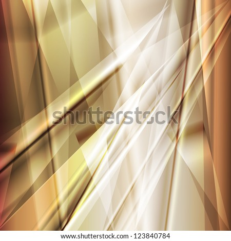 Gold metal abstract background vector - stock vector