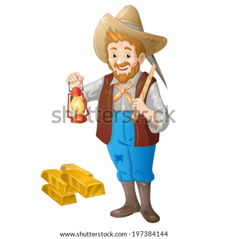 Gold miners - stock vector