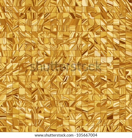 Gold mosaic background. EPS 8 vector file included - stock vector