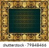 gold ornate frame. You can disable the internal red background and insert your - stock photo