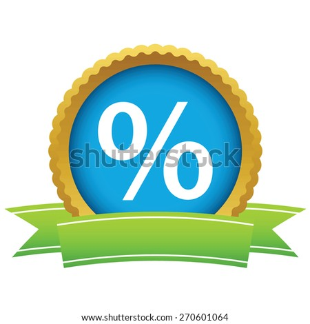 Gold percentage logo on a white background. Vector illustration - stock vector