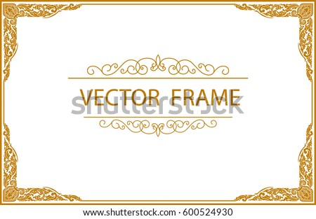 Certificate frame stock images royalty free images vectors gold photo frame with corner thailand line floral for picture vector design decoration pattern style yadclub Choice Image