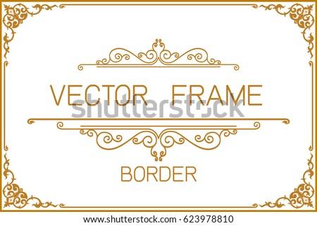 Gold Photo Frame Corner Thailand Line 499624909 on Victorian Ornamental Border Brown
