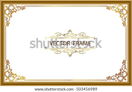 Gold Photo Frames Corner Thailand Line Stock Vector (Royalty Free ...