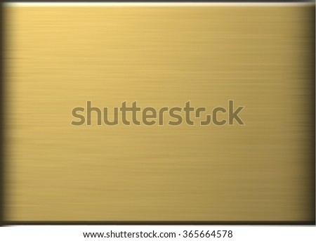 Gold polished metal - stock vector