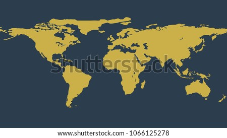 Detailed world map stock images royalty free images vectors gold political world map illustration vector flat earth template globe icon element of gumiabroncs Gallery
