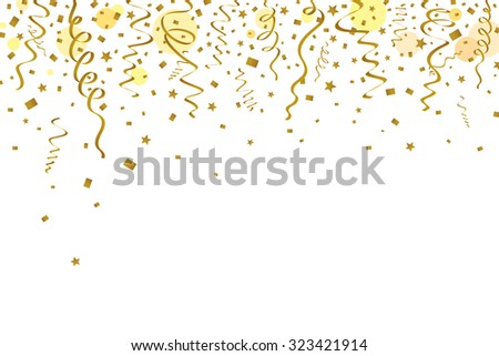 Gold ribbons background