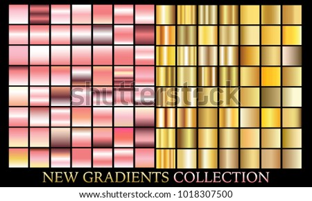 gold rose gradient set background vector stock vector royalty free
