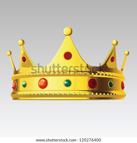 Gold Royal Crown - stock vector
