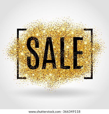 Vector illustration in rank M-rank: Gold sale  Gold sale