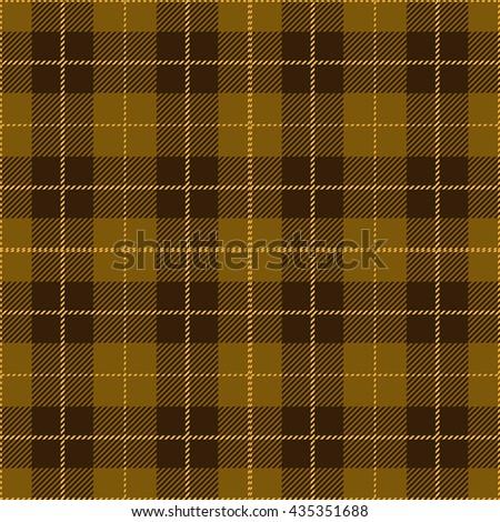 Gold Seamless Tartan Plaid Textile Design - stock vector
