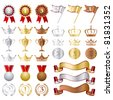 Gold Silver bronze Awards Set. Illustration vector - stock vector