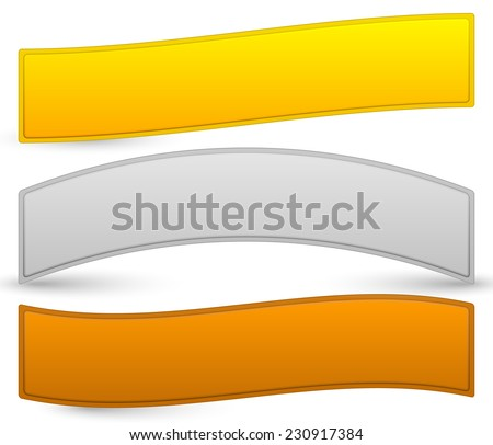 Gold, silver, bronze plaques, bars - stock vector