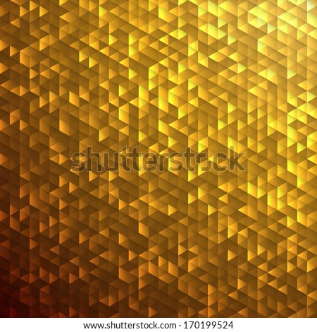 Gold sparkle glitter background.Glittering sequins mosaic pattern. - stock vector