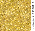 gold sparkle glitter seamless background - stock vector