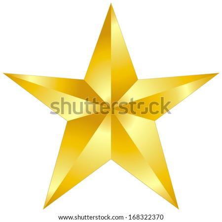Gold Star - stock vector