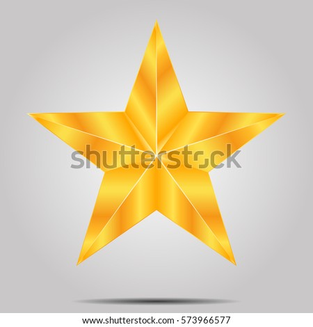 gold star on a gray background