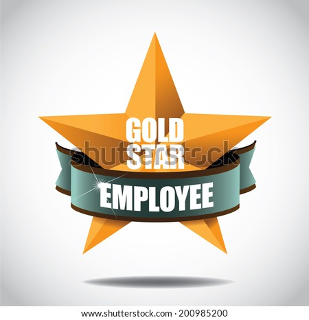 Gold star physician icon symbol. EPS 10 vector, grouped for easy editing. No open shape or paths. - stock vector