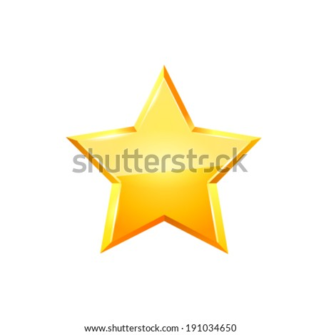 Gold star vector.