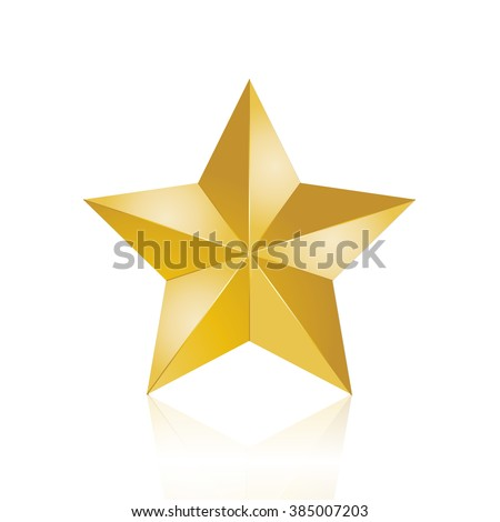 Gold Star - vector graphic
