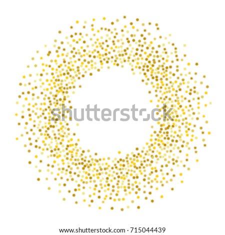 Gold Stars Glitter Confetti Round Frame Stock Vector 715044439 - Shutterstock