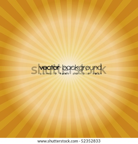 Gold sunset vector background with text