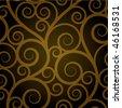 Gold swirl seamless pattern - stock vector