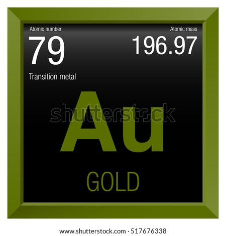Gold symbol element number 79 periodic stock vector 518201125 gold symbol element number 79 of the periodic table of the elements chemistry urtaz Image collections