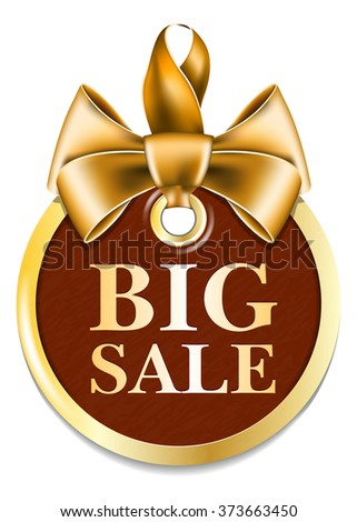 Gold tag sale - stock vector