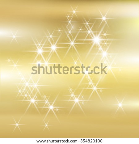 Gold Texture . Gold Christmas Background Texture . Gold Glitter Texture . Gold Sparkles Background . Gold Painted Banner . Golden Shiny Wallpaper . Gold Vector . - stock vector
