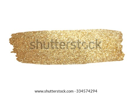 Gold Texture. Hand drawn brush stroke vector design element. - stock vector