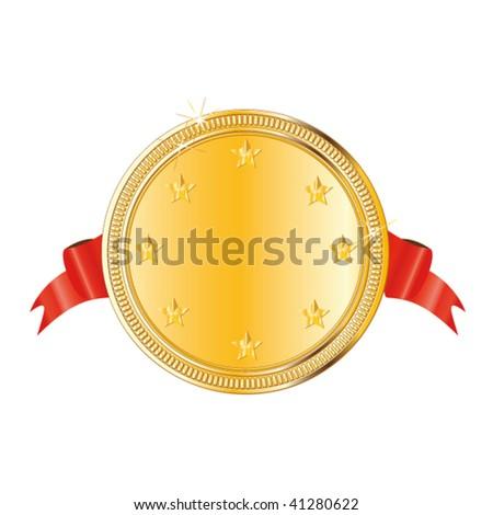 gold vector award medal - stock vector
