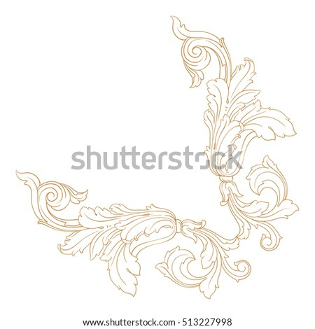 Vector Vintage Baroque Design Frame Pattern Stock Vector