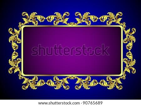 Gold vintage frame.Vector eps10 - stock vector