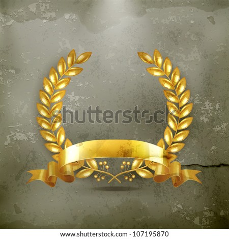 Gold wreath, old-style vector - stock vector
