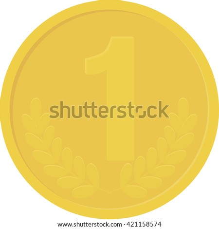 Gold yellow coin. isolated on white background - stock vector