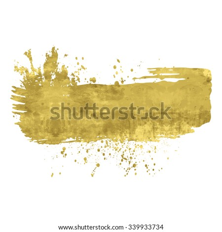 Golden abstract background or banner. Shine  isolated design element. Vector illustration. Easy editable template.  Bright  festive  backdrop. - stock vector