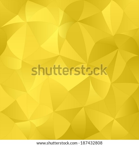 Golden abstract curved pattern background - vector version - stock vector