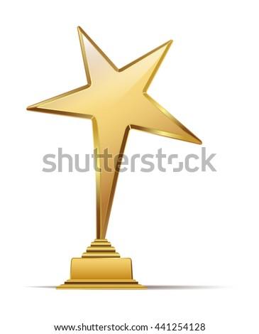 golden arts award. vector illustration - stock vector