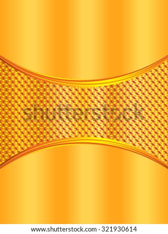 golden brochure template, flyer design background - stock vector